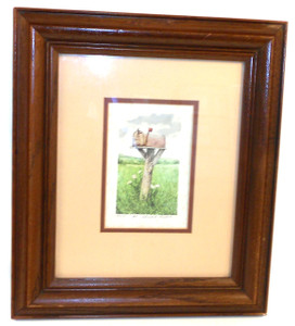 Gerald H. Lubeck Signed & Framed Artist Proof R.F.D. Country Mailbox Print