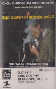 Eric Dolphy: In Europe - #2 -13442 Cassette Tape