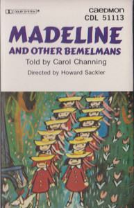 Madeline and Other Bemelmans - Told by Carol Channing -20821 Cassette Tape