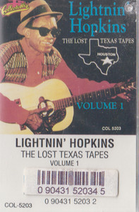 Lightnin' Hopkins: The Lost Texas Tapes - #1 Cassette Tape
