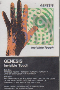Genesis: Invisible Touch -14578 Cassette Tape