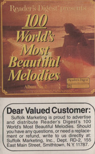 100 World's Most Beautiful Melodies - #2 -5725 Cassette Tape