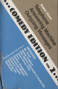 Radio Shack Telephone Answering Machine Outgoing Messages - Comedy Edition #2 Cassette Tape
