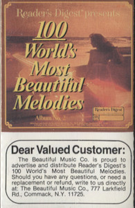 100 World's Most Beautiful Melodies - #2 -5726 Cassette Tape