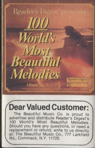 100 World's Most Beautiful Melodies - #3 -5733 Cassette Tape