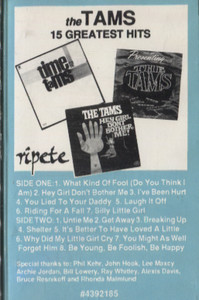 The Tams: 15 Greatest Hits Cassette Tape