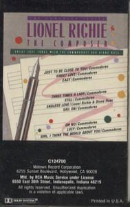 Lionel Richie: The Composer Series - Great Loves Songs with the Commodores and Diana Ross Cassette Tape