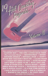 Various Artists: 19 Hot Country Requests, Volume 3 - Audio Cassette Tape