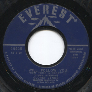 """Gloria Lynne: You Don't Have to Be a Tower of Strength / I Will Follow You - 7"""" Vinyl 45 rpm Record"""
