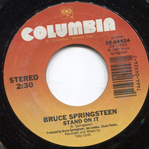 """Bruce Springsteen: Stand on It / Glory Days - 7"""" Vinyl 45 rpm Record"""
