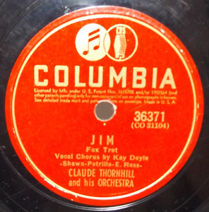 Claude Thornhill: Jim / Concerto for Two (A Love Song) - 78 rpm Record