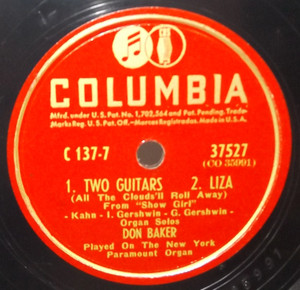 Don Baker: Two Guitars / Liza / Body and Soul / I Love a Parade - 78 rpm Record