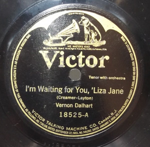 Vernon Dalhart: I'm Waiting for You, 'Liza Jane / Sterling Trio: Mummy Mine - 78 rpm Record