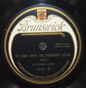 Cathedral Choir: It Came Upon a Midnight Clear / Hark! The Herald Angels Sing - 78 rpm Record