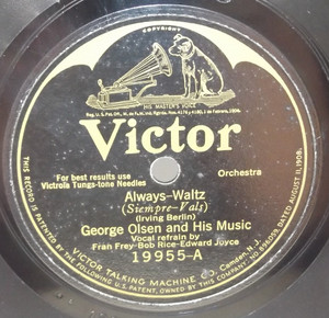 The Troubadours: Princess Flavia / George Olsen: Always - 78 rpm Record
