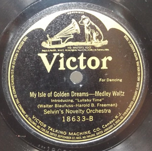 Selvin's Novelty Orchestra: Dardanella / My Isle of Golden Dreams - 78 rpm Record