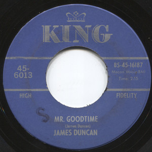"James Duncan: Guilty / Mr. Goodtime - 7"" 45 rpm Vinyl Record"