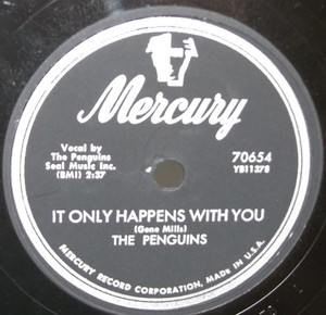 The Penguins: It Only Happens with You / Walkin' Down Broadway - 78 rpm Record
