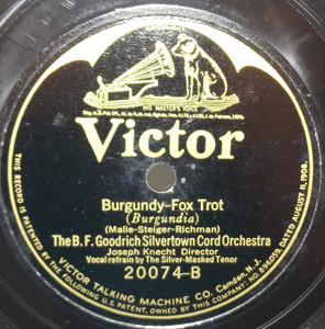 B.F. Goodrich Silvertown Cord Orchestra: Burgundy / Waring's Pennsylvanians: Cherie, I Love You - 78 rpm Record