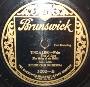 Regent Club Orchestra: I Wish I Had My Old Gal Back Again / Ting-A-Ling  - 78 rpm Record