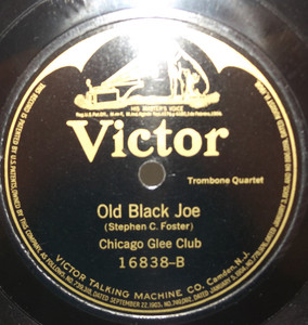 Guido Gialdini: Amoureuse Waltz / Chicago Glee Club: Old Black Joe 78 rpm Record