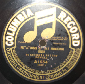 Joe Belmont: Listen to the Mocking Bird / Sherman Sherry Powell: Imitations of the Mocking Bird - 78 rpm Record