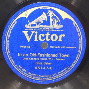 Olive Kline: Serenade / Elsie Baker: In an Old-Fashioned Town - 78 rpm Record