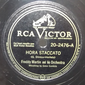 Freddy Martin & Orchestra: On the Santa Claus Express / Hora Staccato - 78 rpm Record
