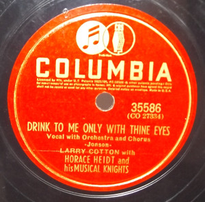 Horace Heidt & His Musical Knights: Ave Maria / Drink to Me Only with Thine Eyes - 78 rpm Record