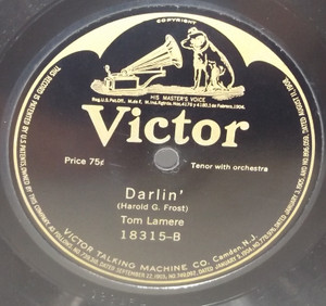 Tom Lamere: Darlin' / Sing Me Love's Lullaby - 78 rpm Record