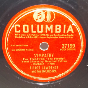 Elliot Lawrence: Once Upon a Moon / Sympathy - 78 rpm Record