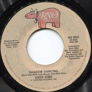 """Andy Gibb: Let It Be Me / Shadow Dancing - 7"""" 45 rpm Vinyl Record"""