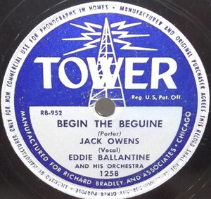 Jack Owens: How Soon (Will I Be Seeing You) / Begin the Beguine - 78 rpm Record