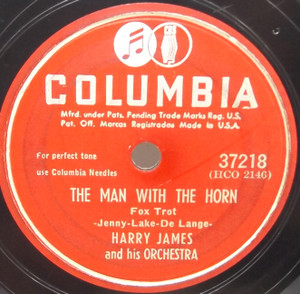 Harry James & Orchestra: The Man with the Horn / Jalousie - 78 rpm Record