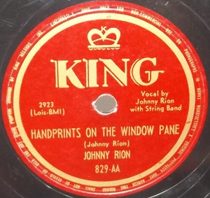 Johnny Rion: The Blind Child's Prayer / Handprints on the Window Pane - 78 rpm Record