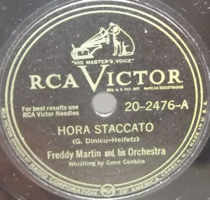 Freddy Martin & His Orchestra: Hora Staccato / On the Santa Claus Express - 78 rpm Record
