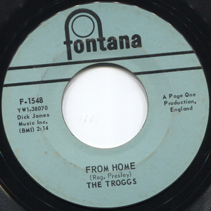 """The Troggs: Wild Thing / From Home - 7"""" 45 rpm Vinyl Record"""