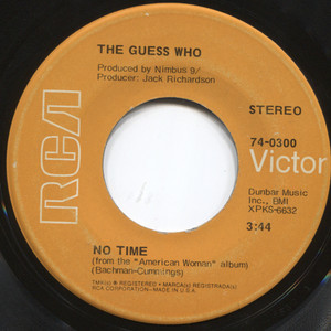 """The Guess Who: Proper Stranger / No Time - 7"""" 45 rpm Vinyl Record"""