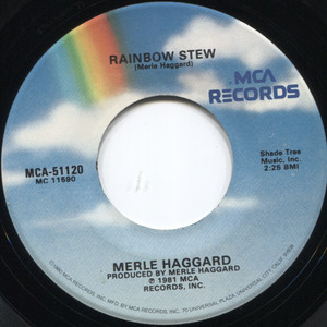 "Merle Haggard: Rainbow Stew / Blue Yodel #9 (Standin' on the Corner) - 7"" 45 rpm Vinyl Record"