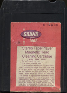 Vintage Sound Tape 8 Track Tape Player Head Cleaning Cartridge