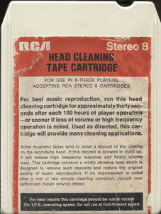 Vintage RCA 8 Track Tape Player Head Cleaning Cartridge