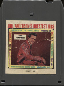Bill Anderson: Greatest Hits - 8 Track Tape