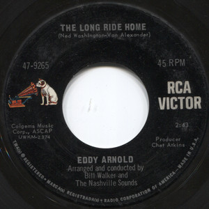 """Eddy Arnold: The Long Ride Home / Turn The World Around - 7"""" 45 rpm Vinyl Record"""