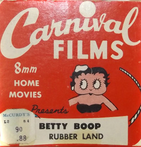 Vintage Betty Boop Rubber Land Carnival Films 8mm Film in Box