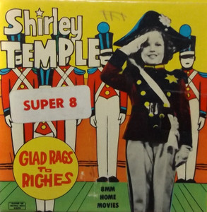 Vintage Shirley Temple Glad Rags to Riches Super 8mm Film in Box