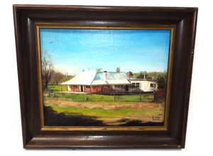 Vintage 1984 Craigie Station Homestead Framed Painting New South Wales