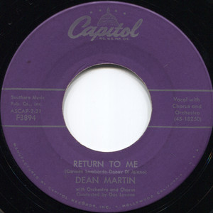 Dean Martin: Forgetting You / Return To Me - 45 rpm Vinyl Record