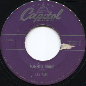 Les Paul: Bye Bye Blues / Mammy's Boogie - 45 rpm Vinyl Record