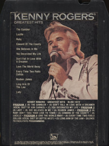 Kenny Rogers: Greatest Hits - 8 Track Tape Cartridge