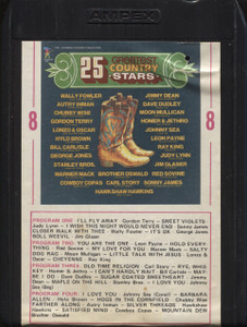 Various Artists: 25 Greatest Country Stars - 8 Track Tape